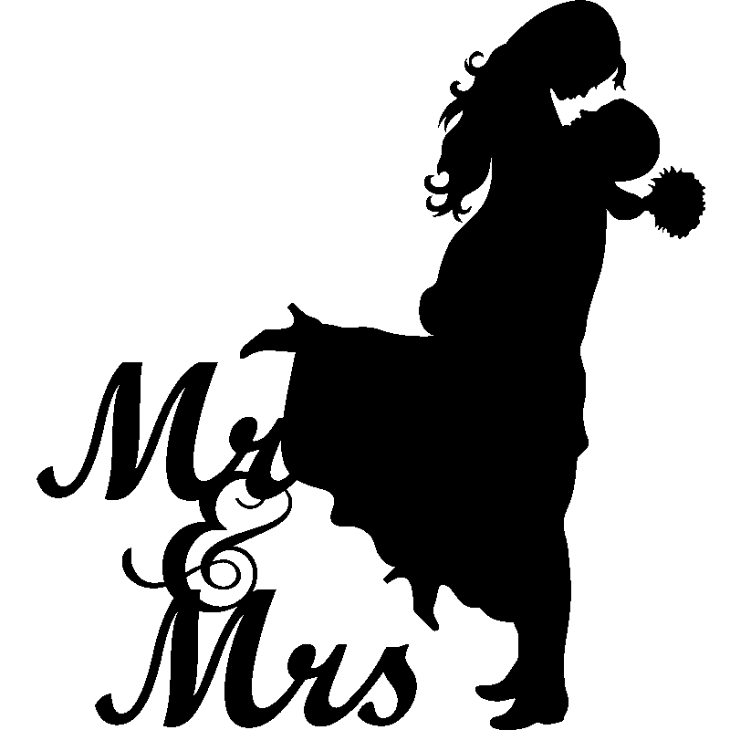 Wedding Clip Art: Sticker Mariage Mr & Mrs 1