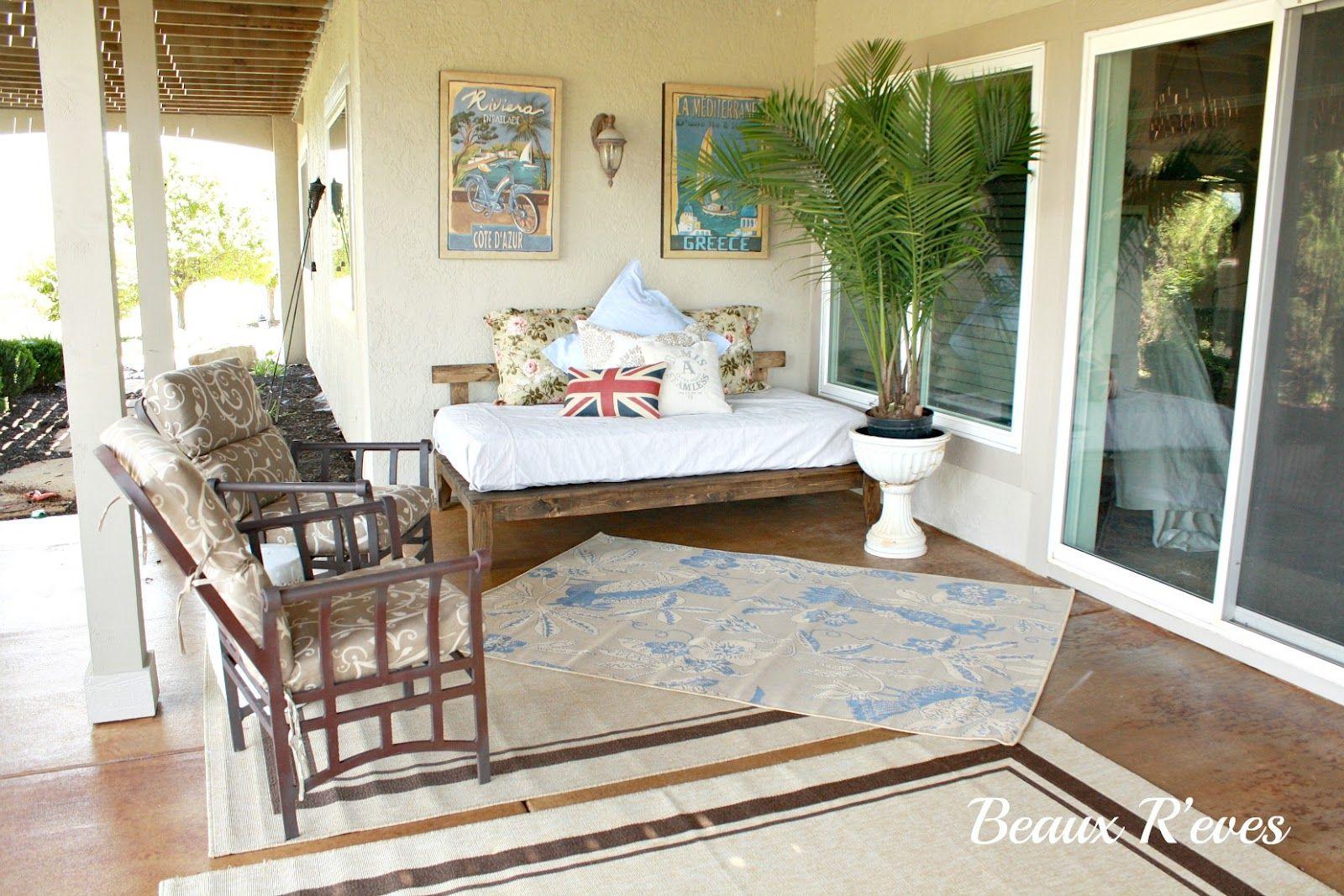 Outdoor Daybed Patio Summer | Relaxing outdoor spaces ... on Living Spaces Outdoor Daybed id=96761