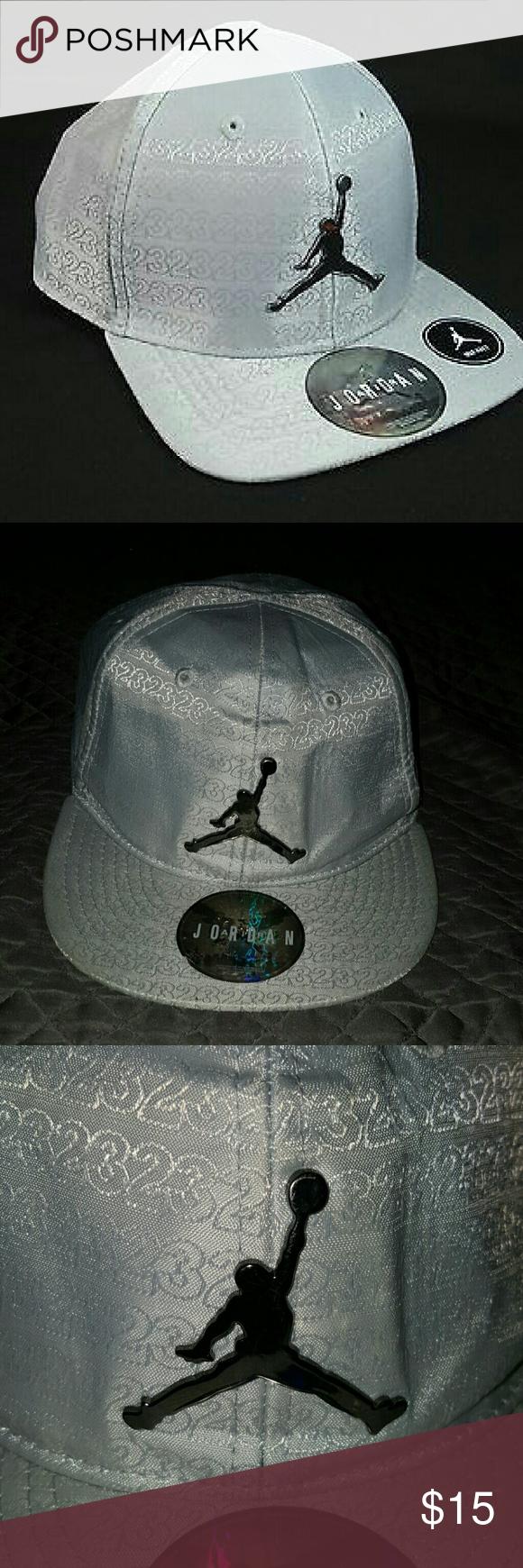 34e65482110 Toddlers Jordan hat Nike Air Jordan toddler baseball cap. Silver chromed  colored metal michael jordan