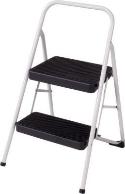 Cosco Two Step Household Folding Step Stool Cool Gray 28