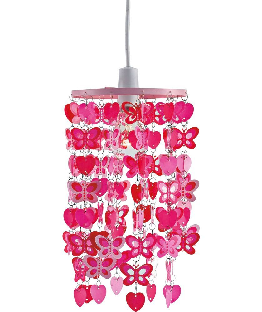 Buy home spotted butterfly pink light shade at argos your buy home spotted butterfly pink light shade at argos your online aloadofball Images