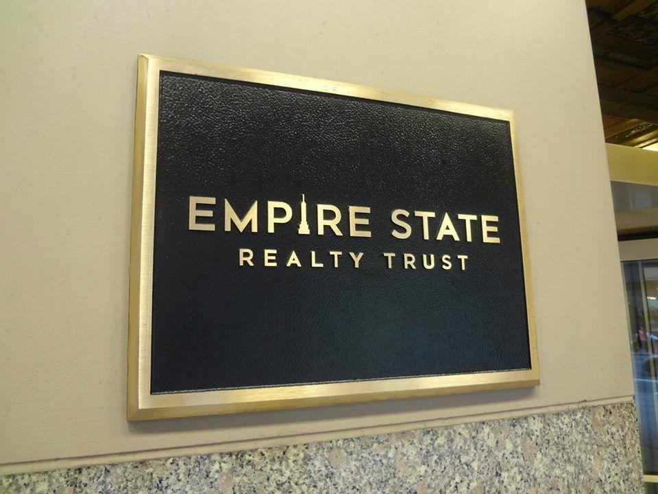 Cast Bronze Metal Plaque NYC