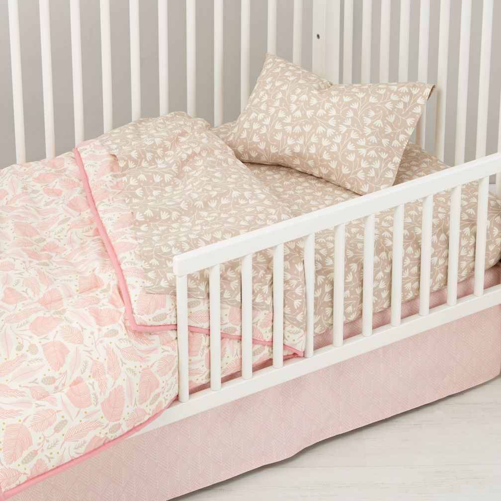 well nested organic toddler bedding pink shops floral patterns