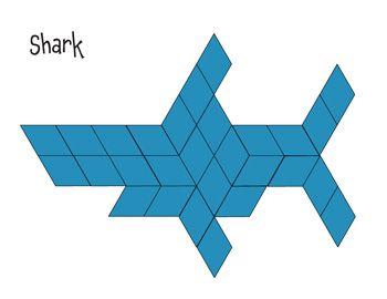 Pattern Block Mat - Shark | Math Printables | Pinterest | Pattern ...