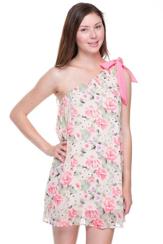 2NE One shoulder floral Dress