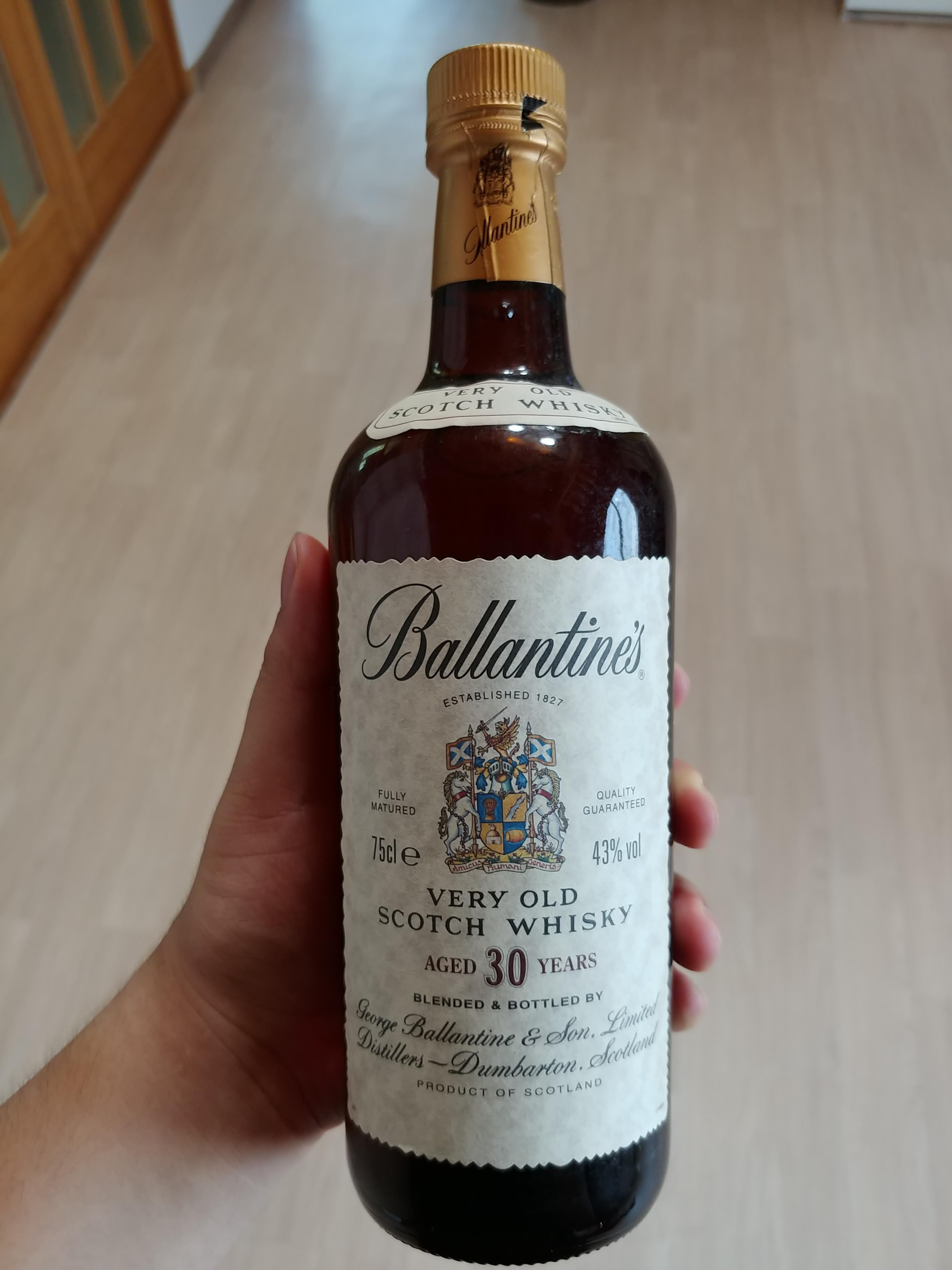 This 30 Year Old Ballentine Whiskey My Uncle Bought 30 Years Ago