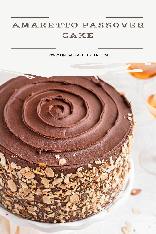 Amaretto passover cake is an impressive passover dessert s