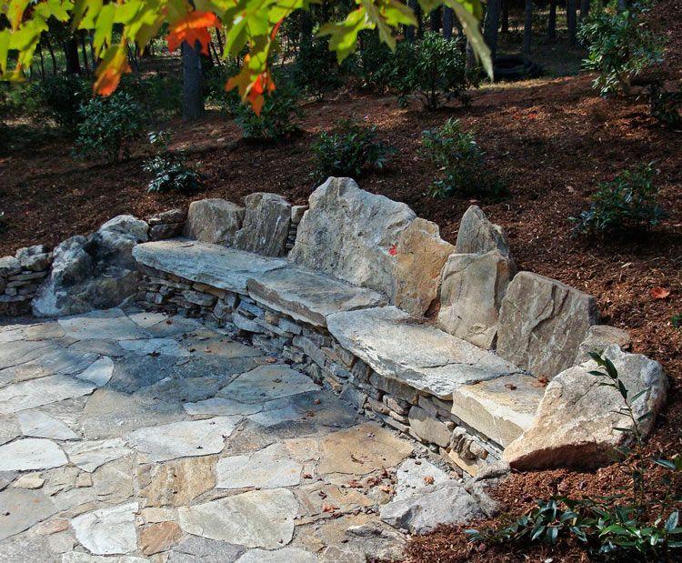 diy stone bench - google