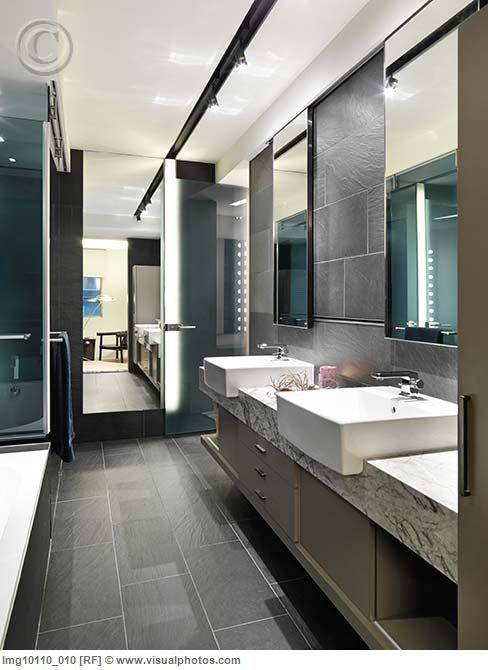 Grey Rectangular Floor Tiles Bathroom Pinterest Flooring