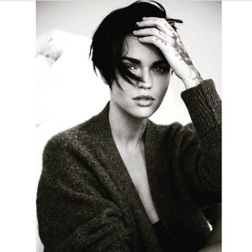 Hair by john d at forward artists for ruby rose lofficiel italia