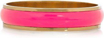 Stella McCartney Brass and Patent Faux Leather Bangle