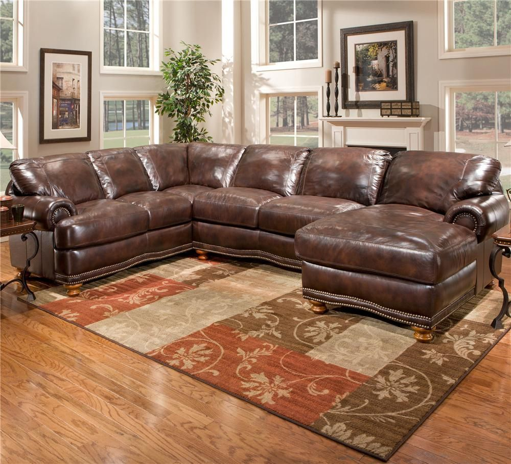 Stratford Olympus Leather Sectional Sofa Group with Chaise - BigFurnitureWebsite - Sofa Sectional : large leather sectional with chaise - Sectionals, Sofas & Couches