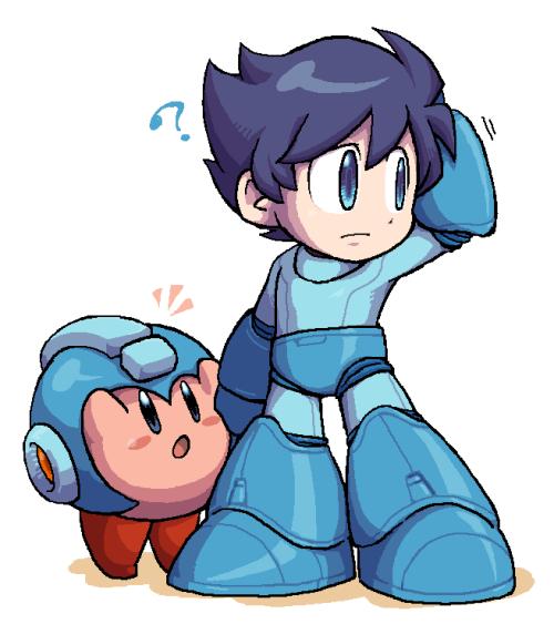 Kirby Megaman Mega Man Smash Bros Mega Man Art