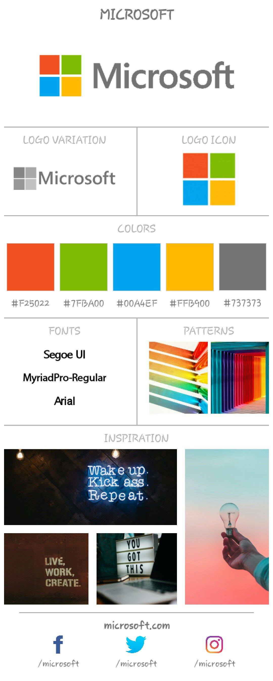 Microsoft Branding Board Using Branding Board App Microsoft Brandboard Branding Brand Android Brand Board Branding Microsoft
