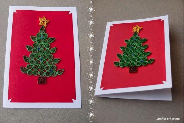 Christmas Tree Greeting Card Design Paper Quilling Crafts Merry Christmas Card Quilling Christmas Greeting Cards Handmade