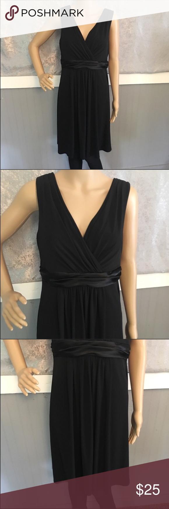 David S Bridal Knee Length Dress Size 12 E44239 David S Bridal Knee Length Sleeveless Jersey Dress W Black Knee Length Dress Black Dress Black Sleeveless Dress [ 1740 x 580 Pixel ]