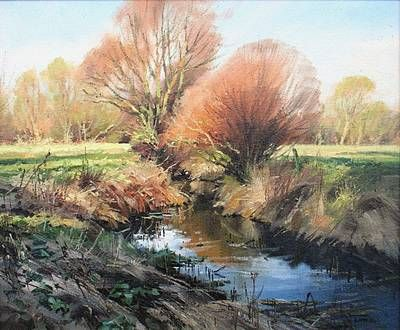 Spring Willows by British Contemporary Artist John LINES
