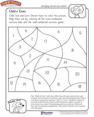Odd n' Even Coloring Page - re-create into caterpillar w ...