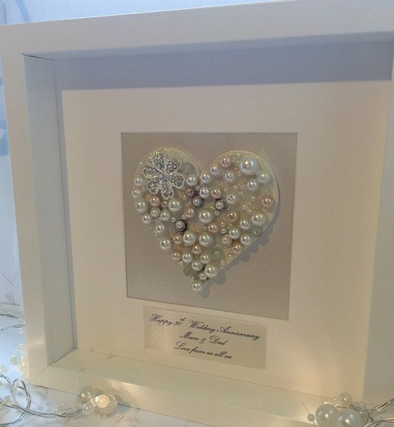 Framed Luxury Pearl 30th Wedding By Lovetwilightsparkles On Etsy