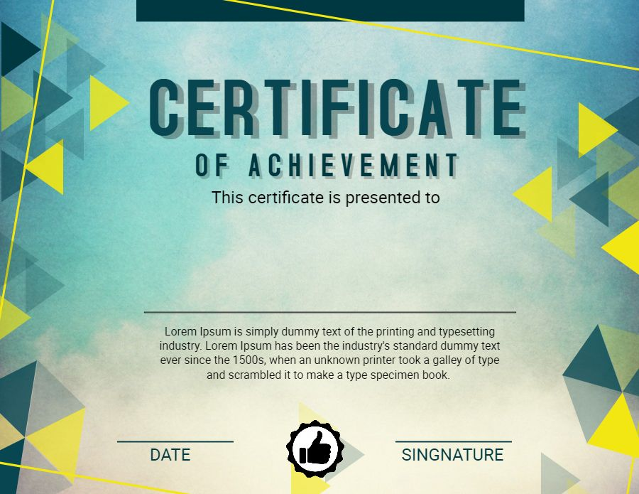 Certificate of Achievement graduation diploma design template - copy university diploma templates