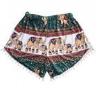 (X-Large Colorful) - Animal Print ShortsHemlock Women Girls Casual Summer #Fitness