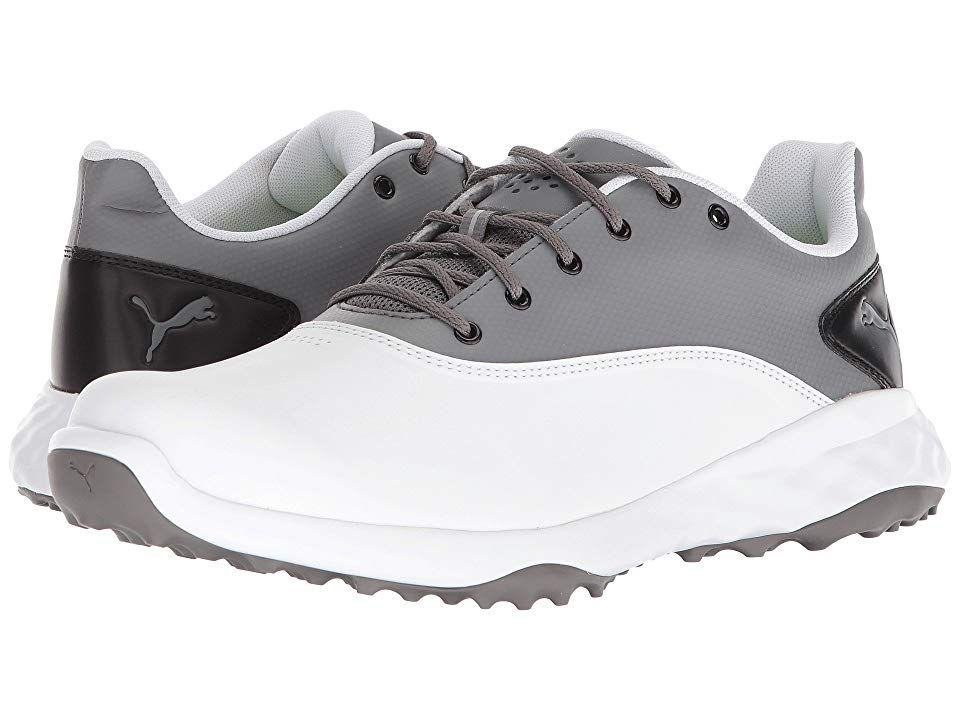 c9020b84f7b PUMA Golf Grip Fusion (Puma White Quiet Shade Puma Black) Men s Golf ...