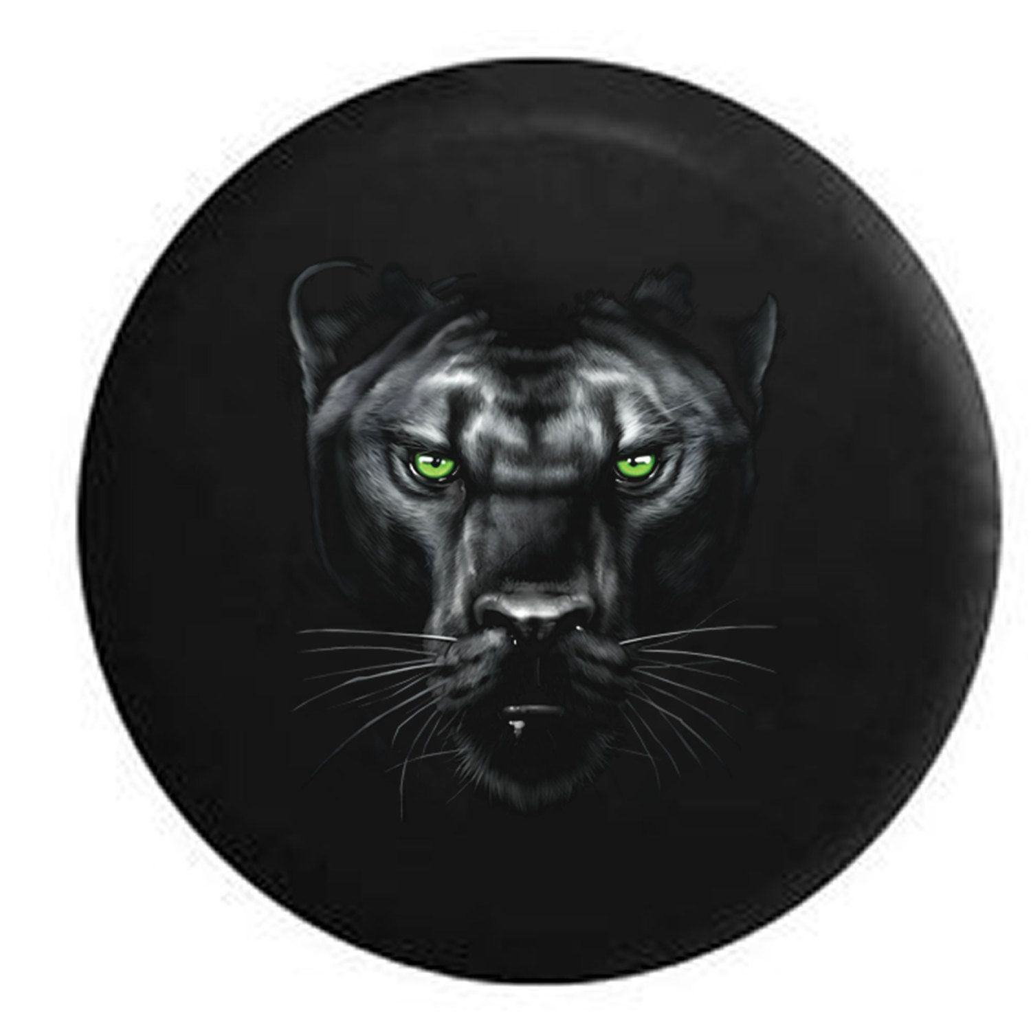 Majestic Black Panther Vibrant Eyes Jeep Rv Camper Spare Tire