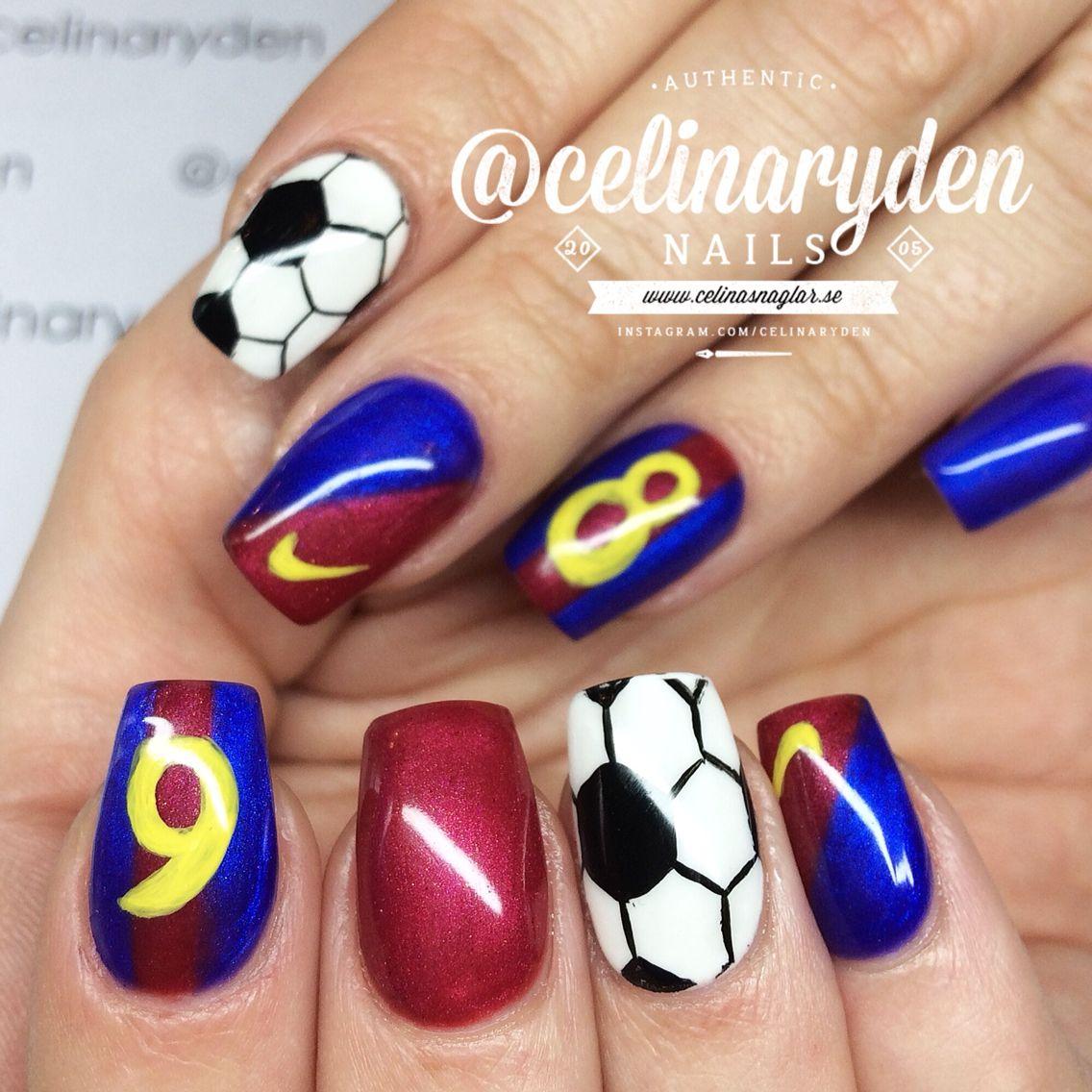 Barcelona Nails Football Nails Soccer Nails Sports Nails