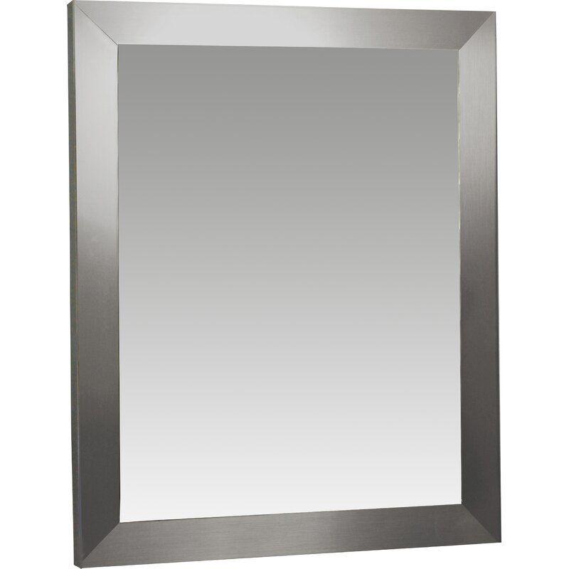 Contemporary Wall Mirrors Mirror, 60 X 40 Wood Frame Mirror