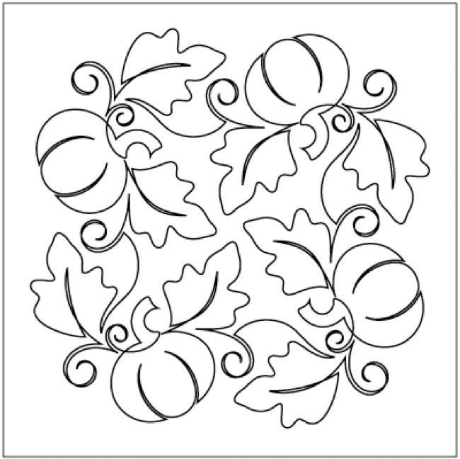 Love This Pumpkin Fest Block 3 Pantograph Pattern By