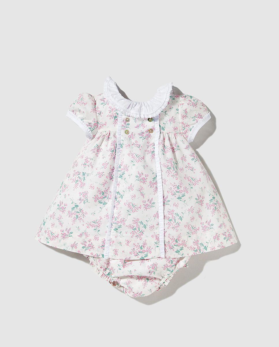 Vestido Dulces De Niña Bebé Con FloresBebés Estampado 4L35RAjq