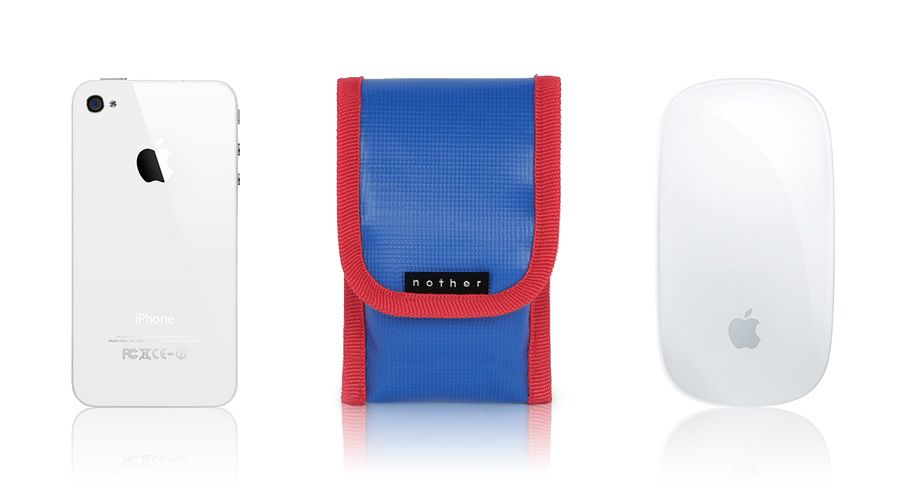 nother Sleeve Pouch for Apple Magic Mouse & iPhone (Blue/Red)