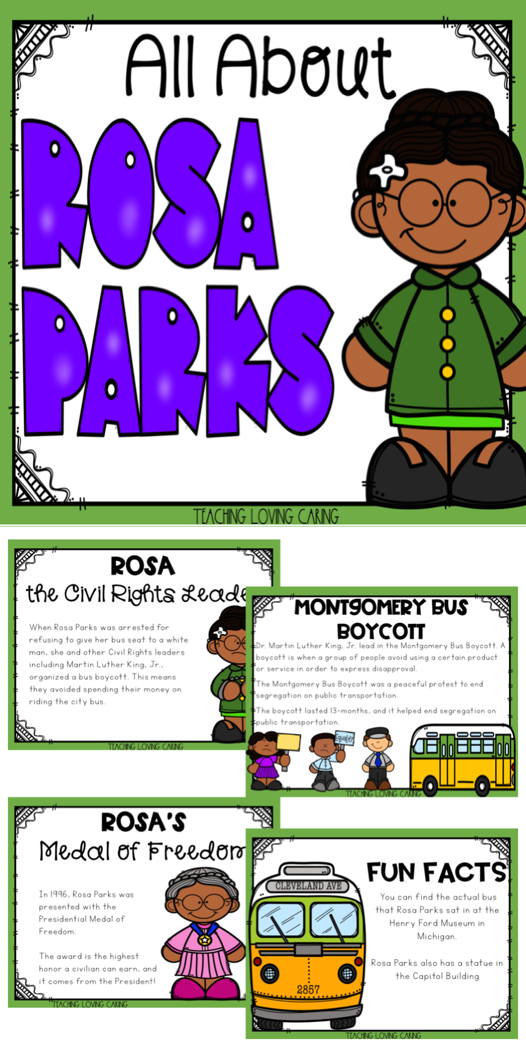 All About Rosa Parks Use This Kid Friendly Presentation To Teach Your Class All Abou History Classroom Black History Month Activities Black History Activities [ 2110 x 1055 Pixel ]