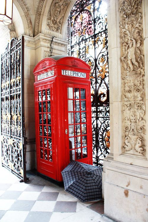London Photography Red Phone Booth And Umbrella Print 8x10 Travel Wall Art Home Decor 30 00 Via Etsy