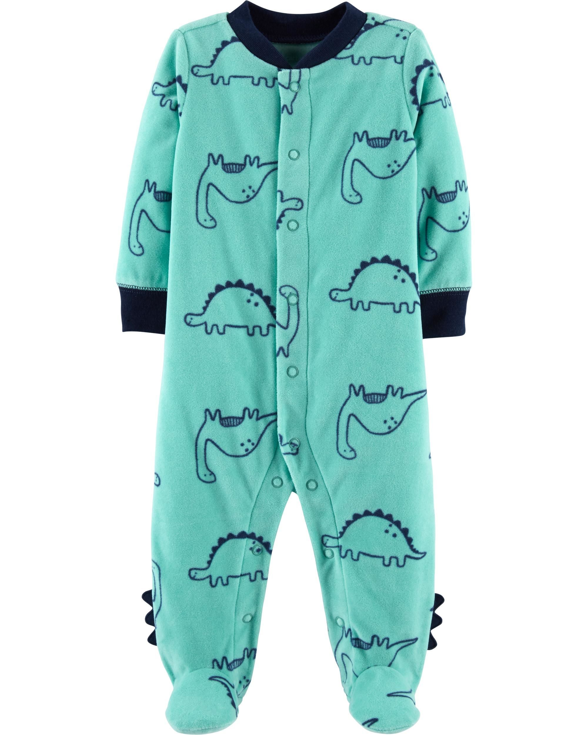 1332e9a0e72e Dinosaur Snap-Up Fleece Sleep   Play