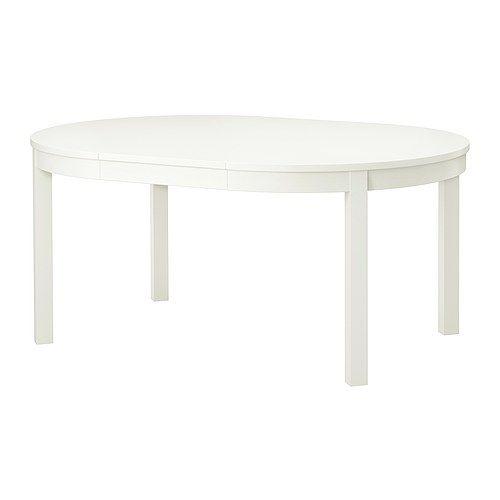 BJURSTA Extendable table White 115/166 cm | Extendable dining table ...
