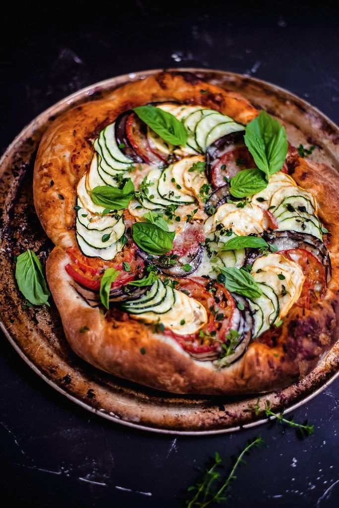 End of Summer Ratatouille Pizza with Zucchini and Eggplant