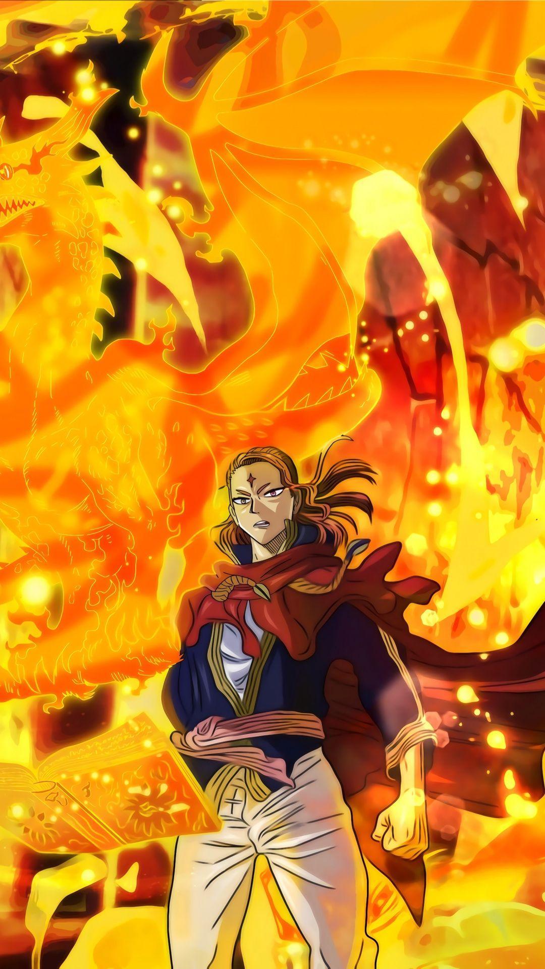 Black Clover, Fuegoleon Vermillion, anime, art, 1080x1920 ...
