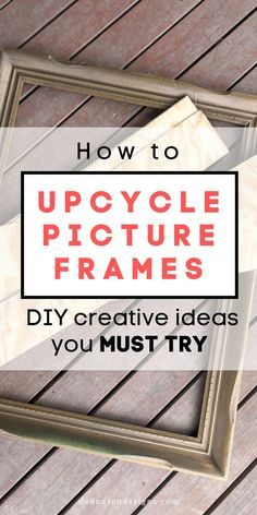 How To Upcycle Picture Frames With Shiplap
