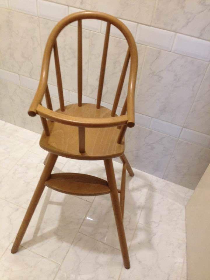 chaise haute de b b bois massif marque ikea berceau lit chaise bb poupee en 2019. Black Bedroom Furniture Sets. Home Design Ideas
