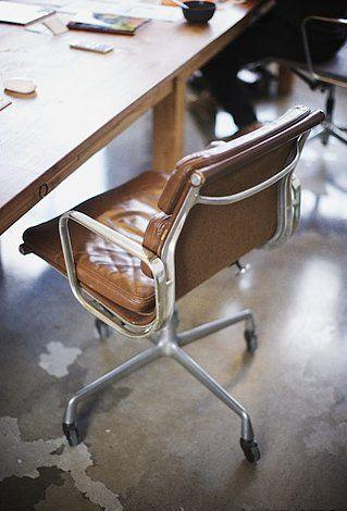 Vintage Soft Pad Caramel Leather Home Details High