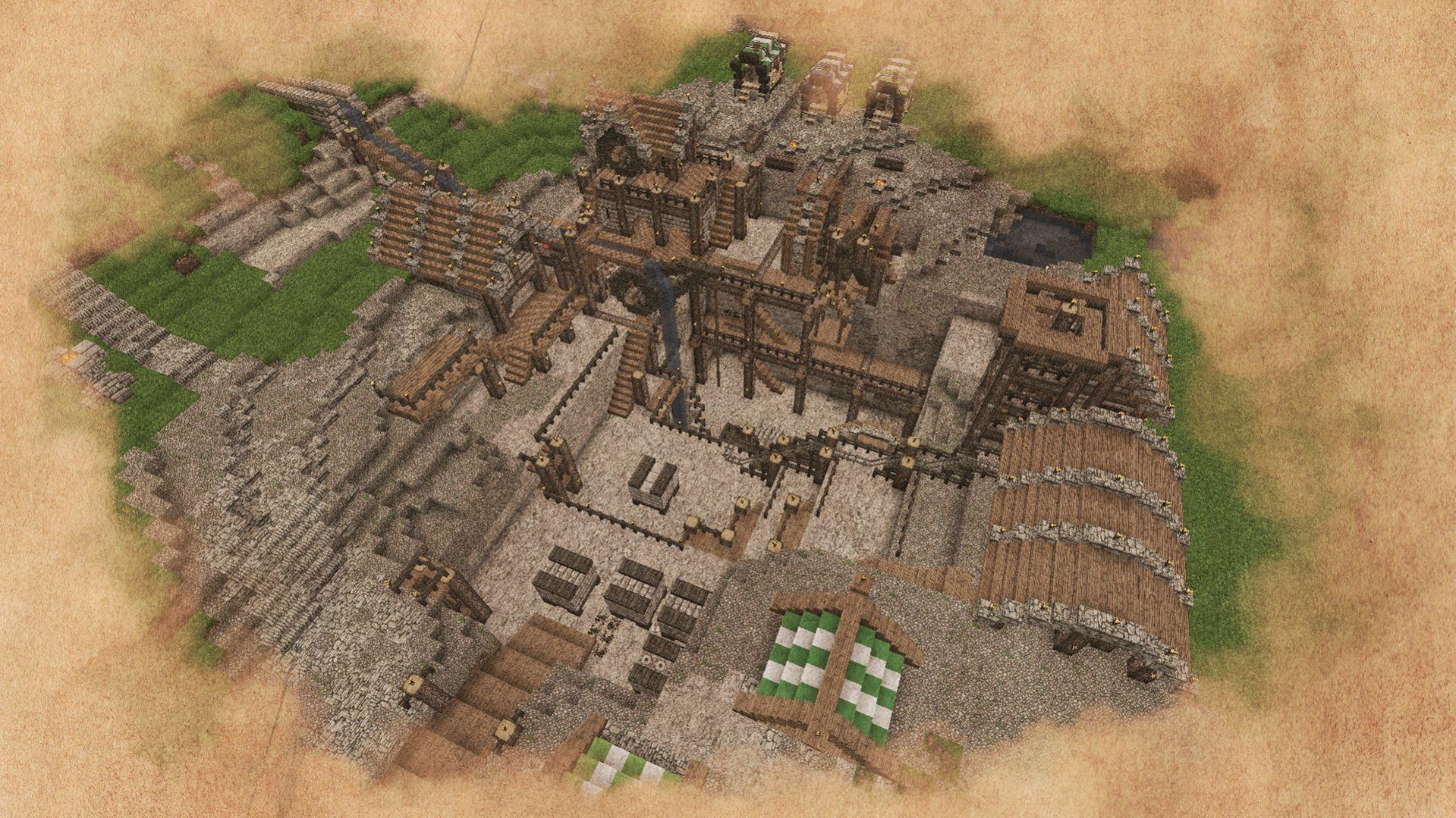 quarry mine | Minecraft medieval, Minecraft blueprints, Minecraft designs