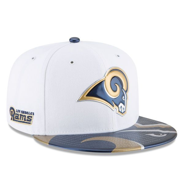 super popular 79850 b8e9c ... hat 6ab74 cd69e  new style youth los angeles rams new era white 2017  nfl draft official on stage 59fifty