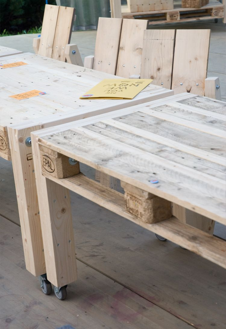 Pallets tables anfd chairs | Ladengestaltung | Pinterest | Garten ...