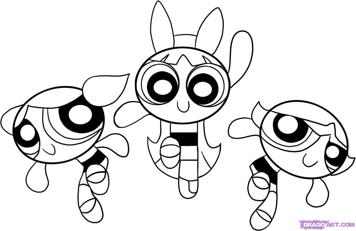 how to draw the powerpuff girls step