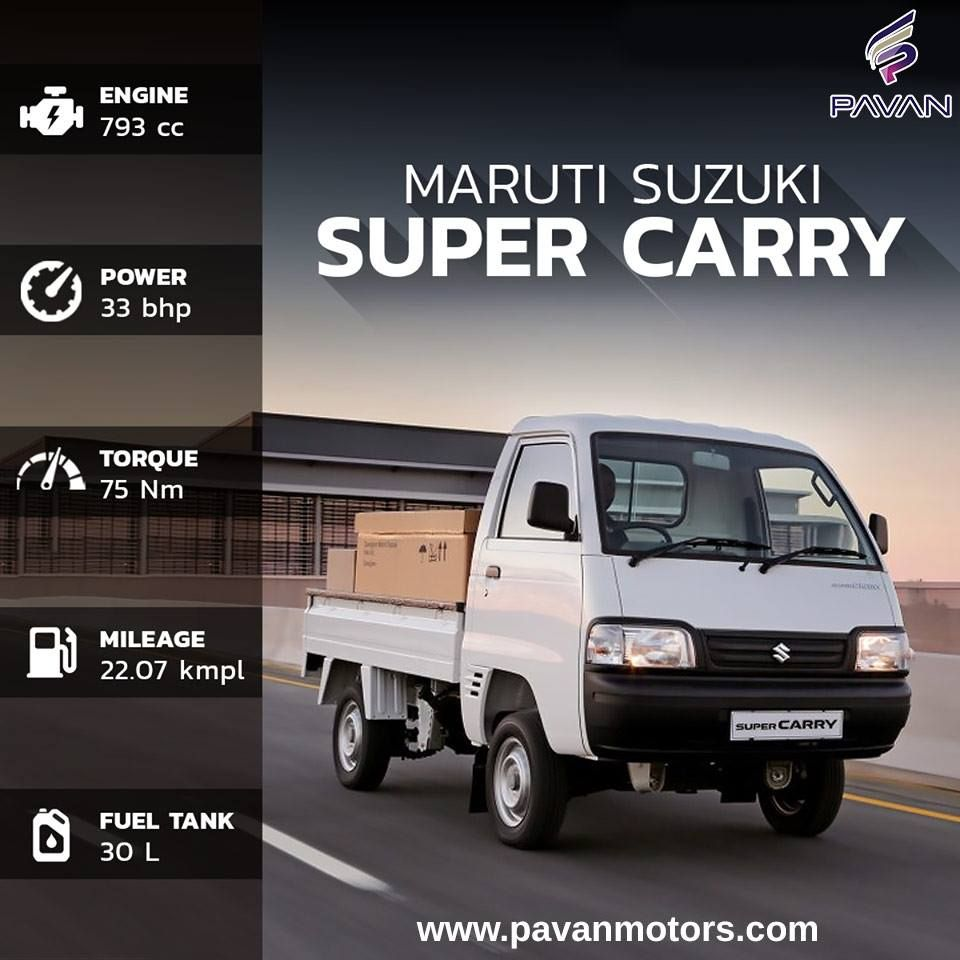 Introducing The Maruti Suzuki Super Carry Cng With Its I Gpi Technology Now Enjoy Better Value For Money Supercarry Suzuki Mini Trucks Car Dealer
