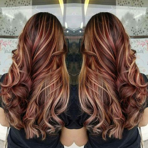 Best Brown Hair With Blonde Highlights 2017 Red Highlights