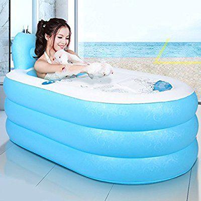 Tinksky Aufblasbare Badewanne Erwachsenen Portable Faltbare Pvc