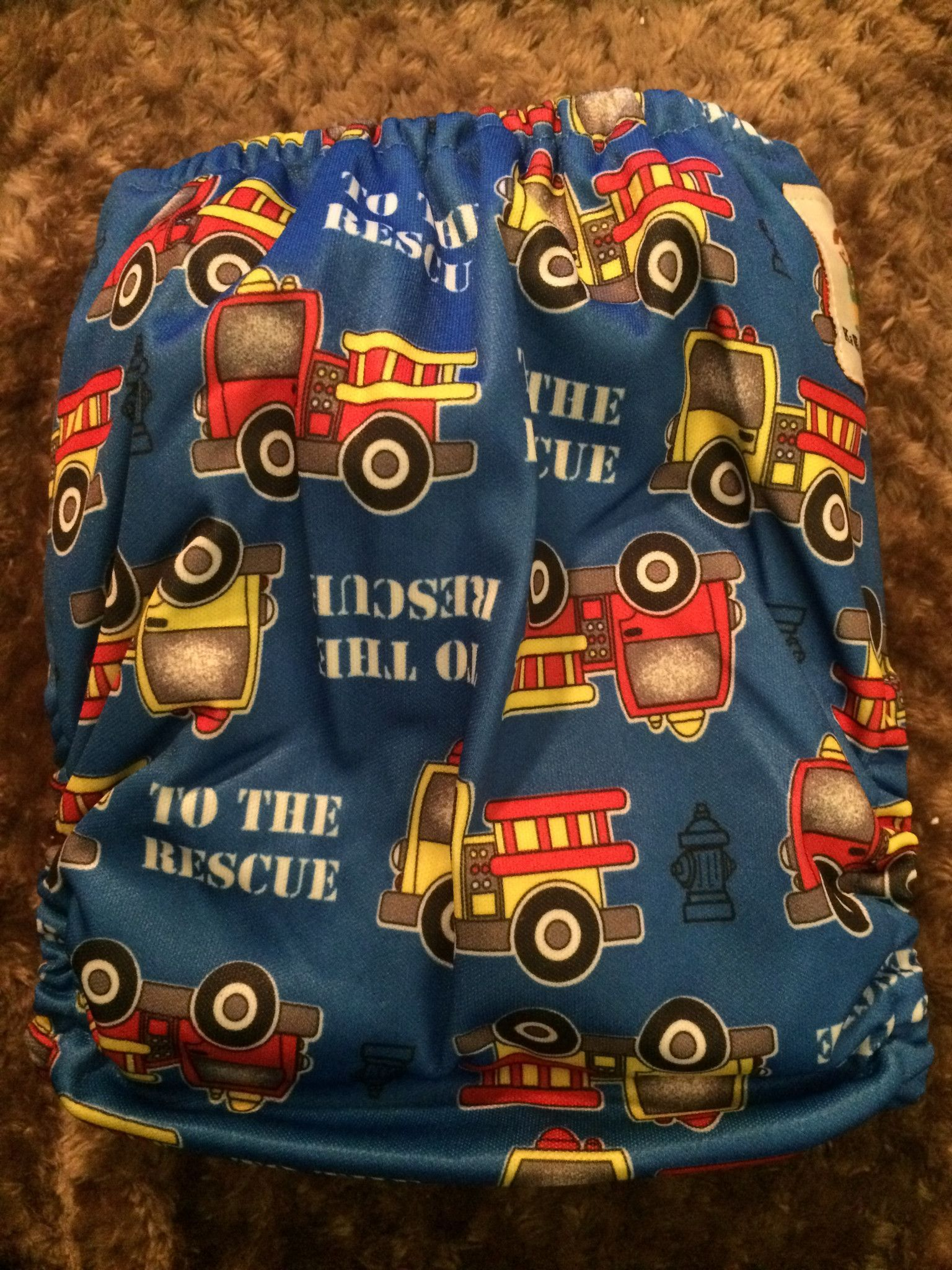 OS Goodnight Heavy Wetter Cloth Diaper - Fire Truck