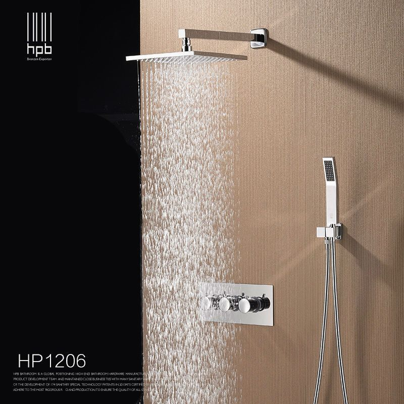 Brass Bathroom Hot And Cold Water Mixer Wall Mounted Bath Shower
